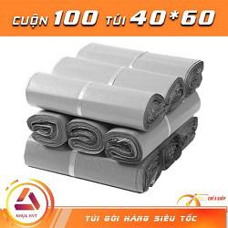 Túi gói hàng màu xám 40x60 cmcm 9 cuộn