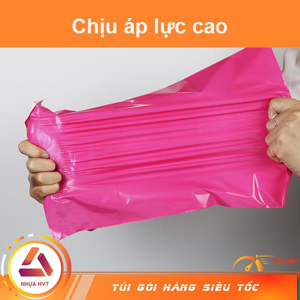Túi gói hàng màu hồng bóng mịn dẻo dai