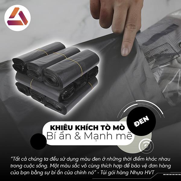 Túi gói hàng màu đen nhỏ gọn đóng gói 100 túi/ cuộn