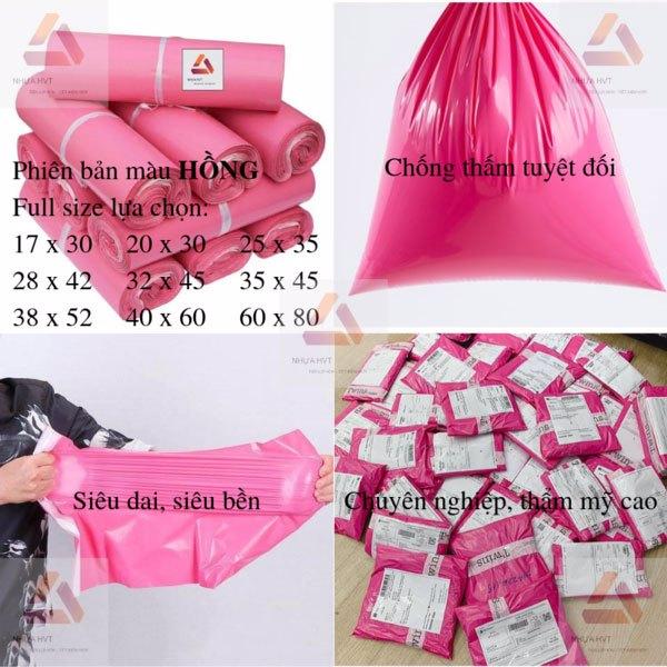 Túi niêm phong chuyên dụng màu hồng