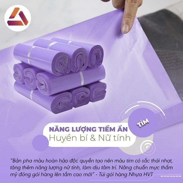 Túi gói hàng màu tím