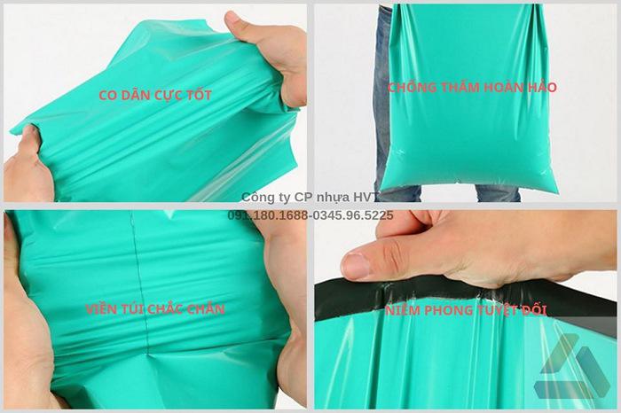 túi đóng hàng màu xanh
