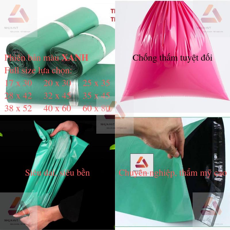 Túi gói hàng màu xanh chống thấm tuyệt đối
