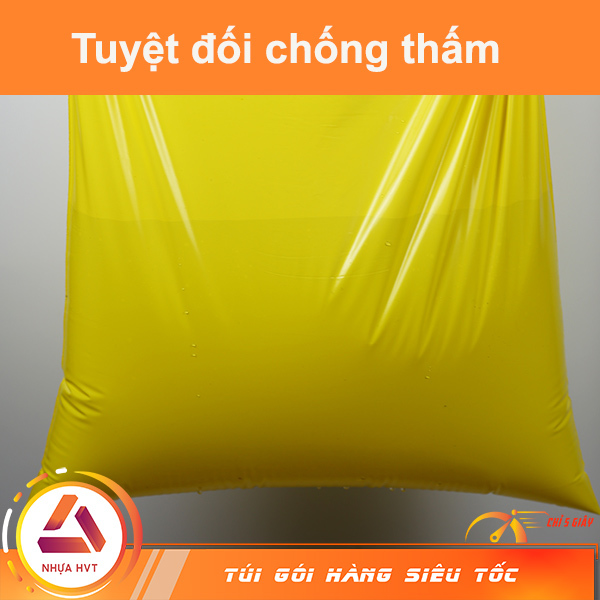 túi chuyên dụng màu vàng đựng nước