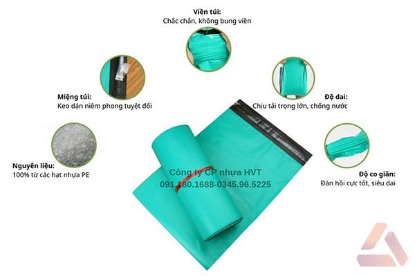 Túi gói hàng màu xanh