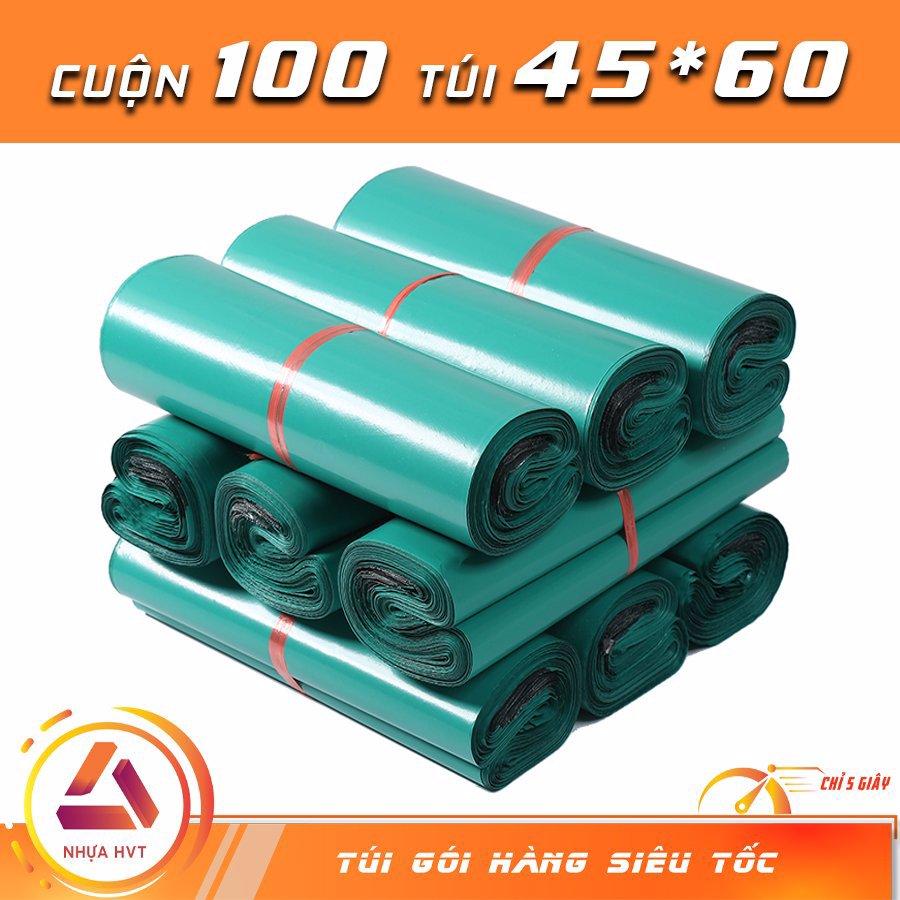 Túi gói hàng màu xanh 45x60 cm 9 cuộn