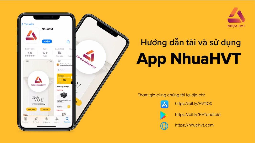 Hướng dẫn đặt hàng qua App NhuaHVT