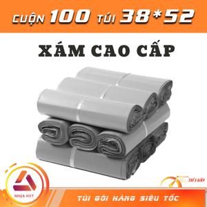 Túi gói hàng COD - Xám Cao Cấp - Size 38*52