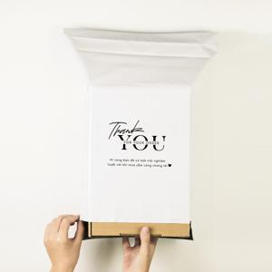 Túi gói hàng niêm phong - Trắng - Size 25*35
