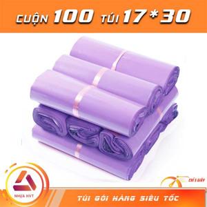 Túi gói hàng niêm phong - Tím - Size 17*30