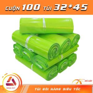 Túi gói hàng niêm phong - Xanh Neon - Size 32*45