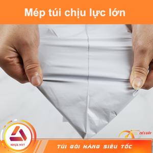 mép túi niêm phong gói hàng trắng 32x34