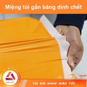 Túi gói hàng COD - Cam - Size 35*45