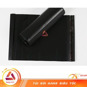 Túi gói hàng màu đen bóng mịn