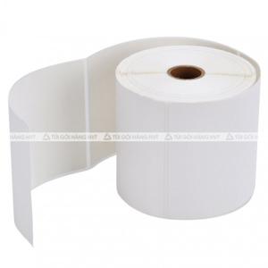 Cuộn giấy in nhiệt tự dính khổ 100*150 (350 tờ)