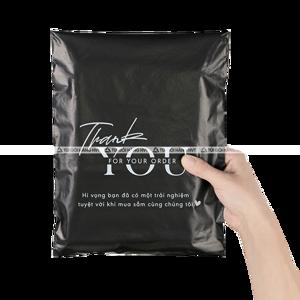 Túi gói hàng niêm phong THANKYOU - Đen - Size 28*42