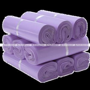 Túi gói hàng niêm phong màu tím size 32*45