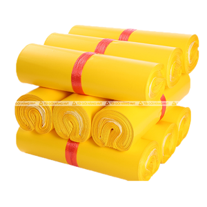 túi gói hàng có băng keo màu vàng size 35*45