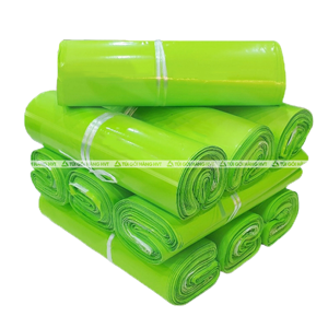 Túi gói hàng có băng keo - Xanh Neon - size 38*52